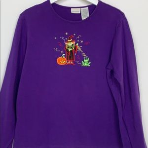 White Stag purple long sleeved tee shirt size XL